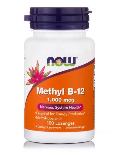 NOW Methyl B-12 1000 mcg Methylcobalamin 100 Lozenges