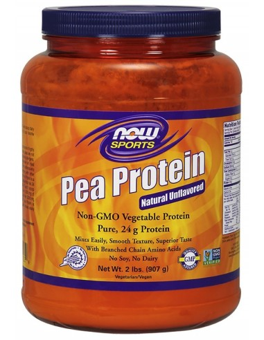NOW SPORTS Pea Protein Natural Unflavored Non-GMO 907g