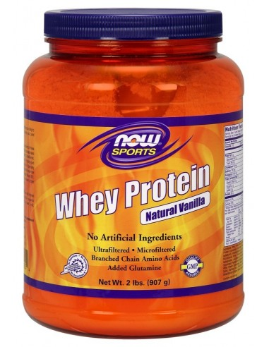 NOW SPORTS Whey Protein Natural Vanilla 907g