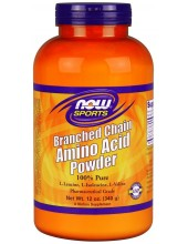 NOW SPORTS Branched Chain Amino Acid Powder 100% Pure 340g