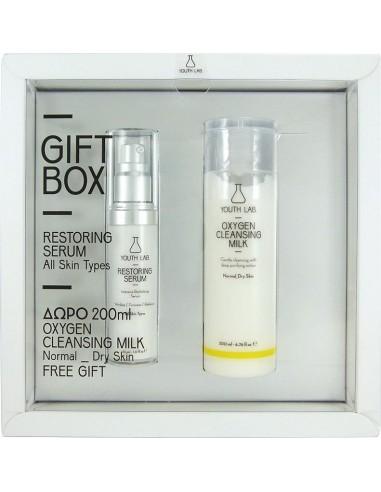 YOUTH LAB GIFT BOX Restoring Serum All Skin Types 30 ml & ΔΩΡΟ Oxygen Cleansing Milk 200ml