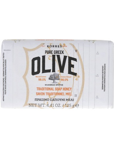 KORRES Pure Greek Olive Traditional Soap Honey - Σαπούνι Μέλι 125g