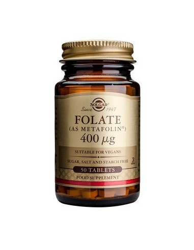 SOLGAR Folate (as Metafolin) 400μg 50 Tabs