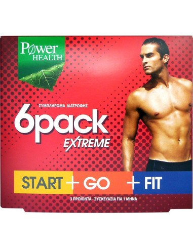 POWER HEALTH 6 Pack Extreme Start+Go+Fit 90 Caps