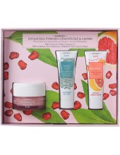 KORRES Pomegranate Offer Set Day Cream for Oily to Cobination Skin 40ml + FREE GIFT 2 Masks