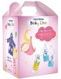 FREZYDERM New Born Kit Girls με Baby Shampoo 300ml, Baby Bath 300ml, Baby Cream 175ml & ΔΩΡΟ Βρεφικό Μπουρνούζι για Κοριτσάκια