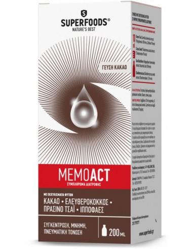 SUPERFOODS MEMOACT Γεύση Κακάο 200ml