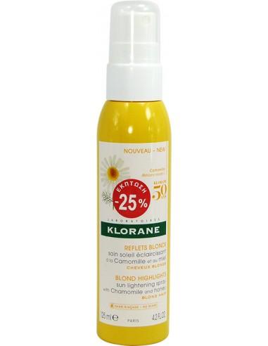 KLORANE with Chamomile Blond Highlights Sun Lighting Spray 125ml