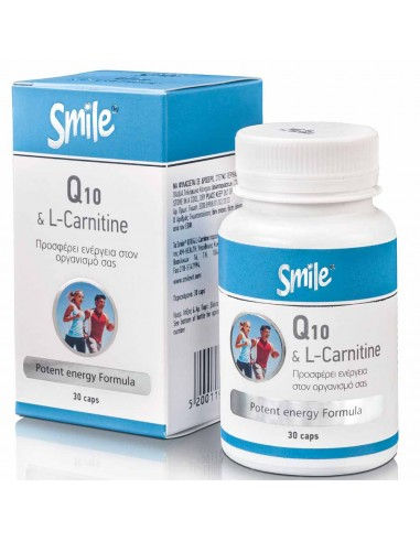 SMILE Q10 & L-Carnitine 30 Caps