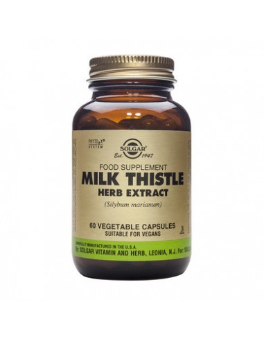 SOLGAR Milk Thistle Herb Extract veg.caps 60s