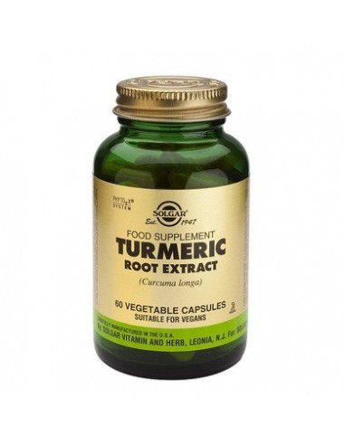 SOLGAR TURMERIC Root Extract veg.caps 60s