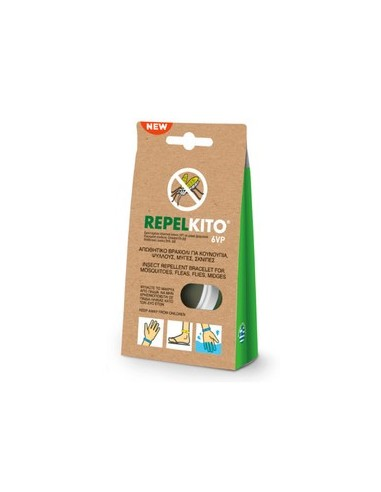 VIORYL Repelkito 6VP White Insect Repellent Bracelet for Mosquitoes, Fleas, Flies, Midges