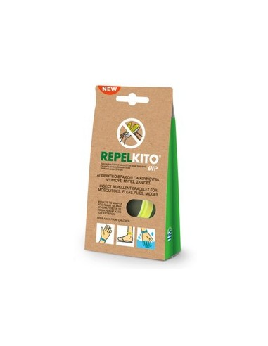 VIORYL Repelkito 6VP Yellow Insect Repellent Bracelet for Mosquitoes, Fleas, Flies, Midges