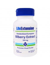 LIFE EXTENSION Bilberry Extract 36% Anthocyanis 100mg 90 Veg.Caps