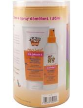 KLORANE Petit Junior Shampooing Demelant Peche 200ml + KLORANE Petit Junior Soin demelant sans rincage 150ml + FREE Tangram game